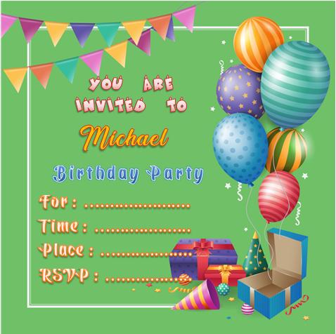 Birthday Invitation Word Template