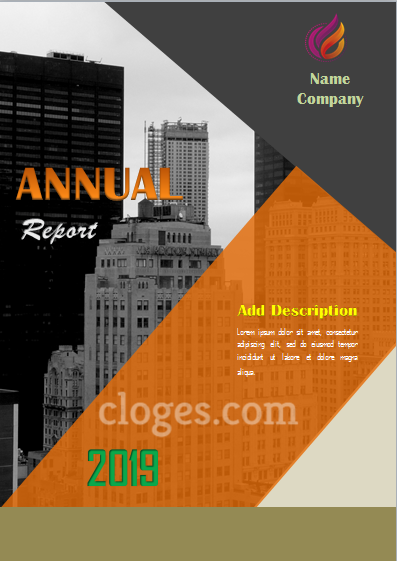 Retro Orange Cover Page Template For Microsoft Word