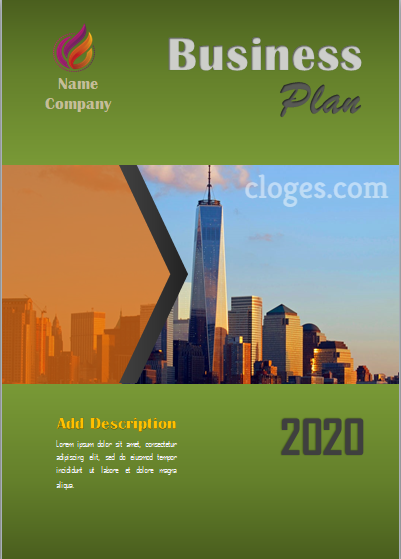 Green Business Plan Cover Page Free Word Template