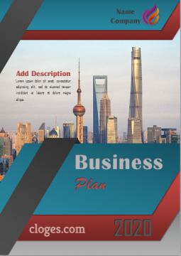 Editable Blue Word Cover Page Business Plan Template