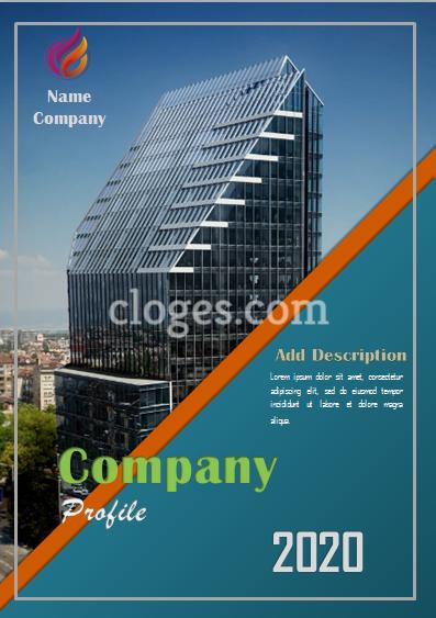 Editable Blue Company Profile Template Word