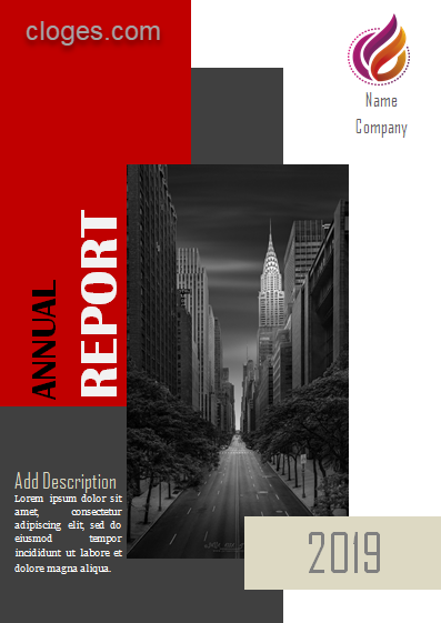 Stylish Annual Report Cover Page Microsoft Word Template