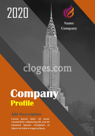 Editable Orange & Grey Company Profile Template Microsoft Word
