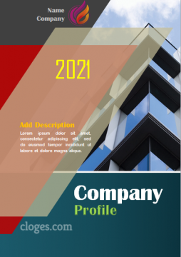 Editable Best Modern Company Profile Cover Template Word