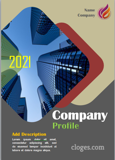 Editable Best Classic Company Profile Cover Template Word