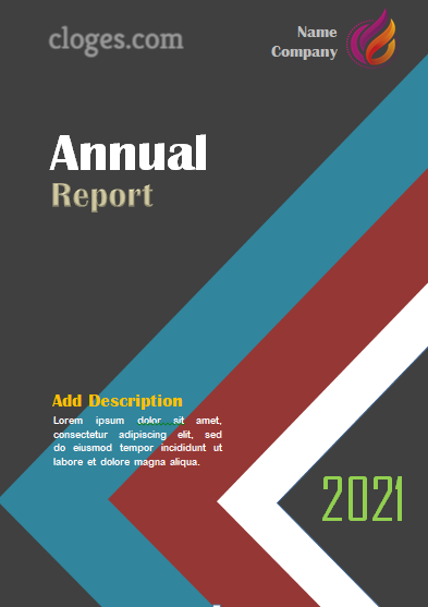 Editable Retro Style Annual Report Cover Template Word